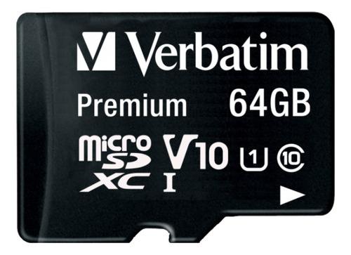 Imagen 1 de 3 de Tarjeta De Memoria Verbatim 44084 Premium Con Adaptador 64gb