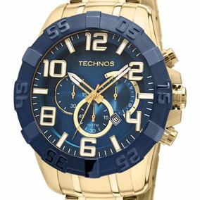 Relógio Technos Masculino Cronógrafo Os20iq/4s Original + Nf