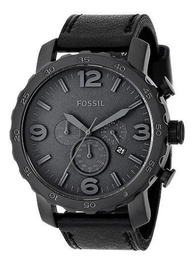 Relogio Fossil Jr1354 Black Nate - Original Novo Caixa Couro