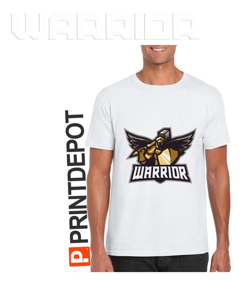 Playera Deportiva Sublimada Logo Warrior Tacto Algodon