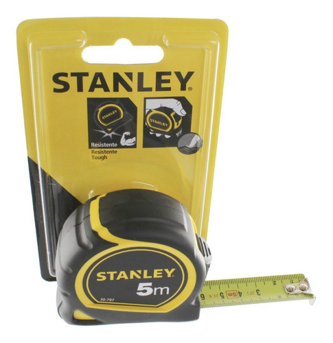 Imagen 1 de 8 de Cinta Métrica 5 M Stanley  30-797 Ancho 19mm