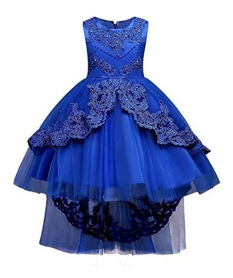 Vestido Azul Rey Para Niña Fiesta Graduacion Cumpleaños Huan