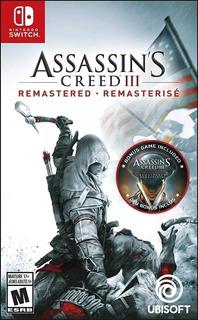 Assassins Creed 3 Remastered Nintendo Switch Nuevo Fisico