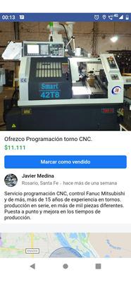 Programación Tornos Cnc Y Puesta A Punto.