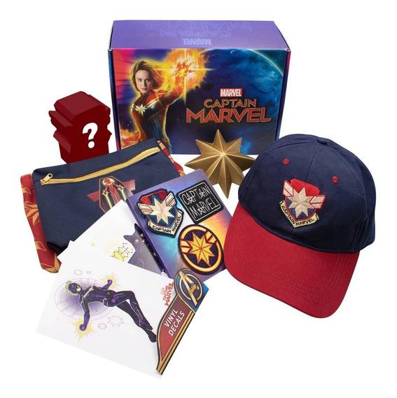 Capitana Marvel Collector Box Gorra + Accesorios, 2019