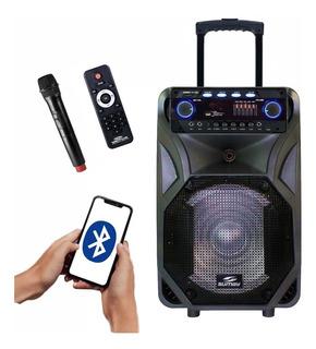 Caixa Som Thunder Black Sumay 400w Rms Bluetooth Microfone Palestras, Festas, Escolas, Lojas, Casa, Bares, Restaurantes