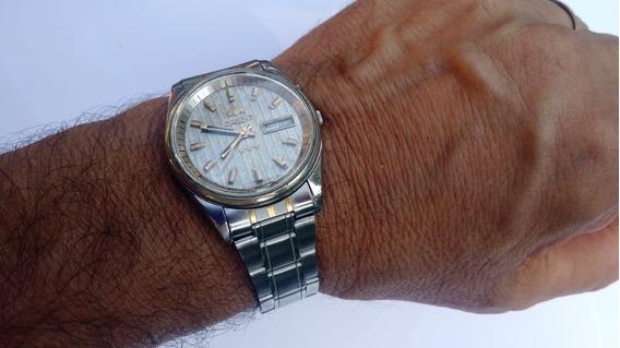 Relógio Orient Automático Antigo Prata Ótimo