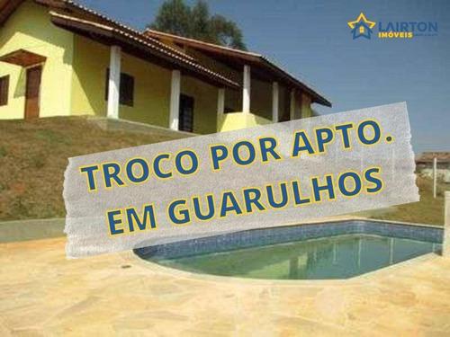 Chácara Com 3 Dormitórios À Venda, 1020 M² Por R$ 450.000,00 - Vale Do Rio Cachoeira - Piracaia/sp - Ch0123