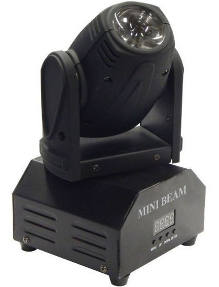 Mini Moving Head Beam 10w Quadriled Rgbw Dmx Bivolt
