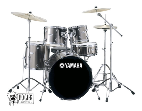 Adesivo Bateria Yamaha Bumbo Drum Bateria Cymbals