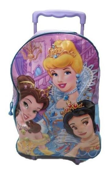 Mochila Colegial Con Carro Nena Princesas 8980 - Children