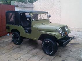 Jeep Ika 4x4 Chapa Original Titular Verde Tipo Militar Antig