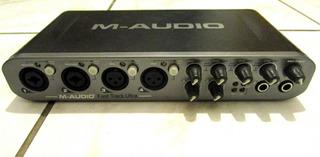 Placa De Sonido M-audio Fast Track Ultra 6 Excelente Estado!