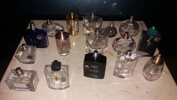 Vidro De Perfumes Vazios Variados 16 Peças Usados (lote1cx3)