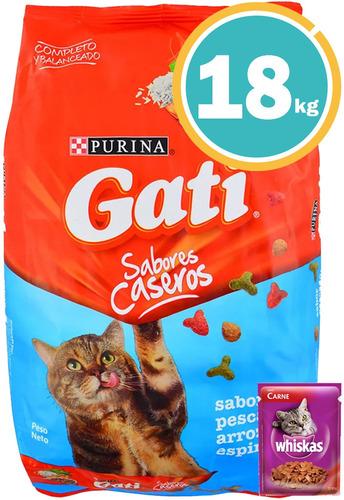 Alimento Gato Gati Pescado 18 Kg C/salsa Y Envío S/cargo*