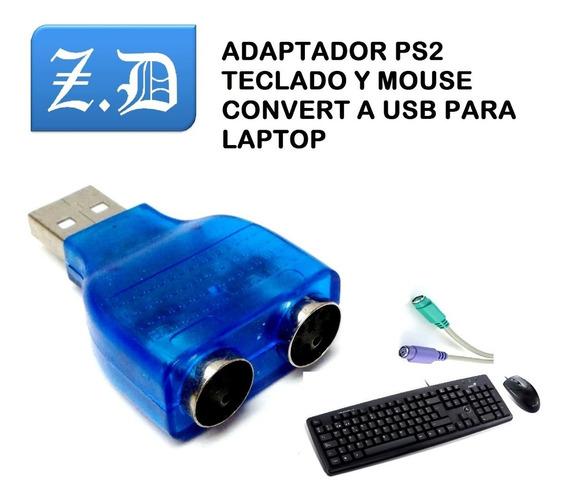 Adaptador Ps2 Teclado Mouse A Usb Para Laptop,pc