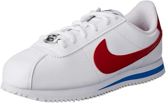 Tenis Nike Classic Cortez Blanco Rojo Dama 904764-103