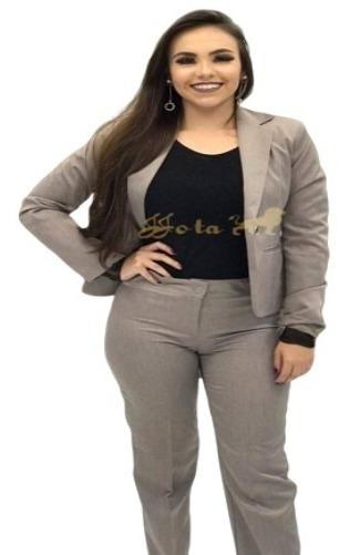 Conjunto Terno Feminino 2 Em 1 Blazer + Calça Varias Cores