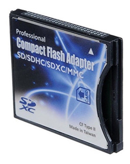 Adaptador Sd A Compact Flash Hasta 2tb Clase Il 180 M/s