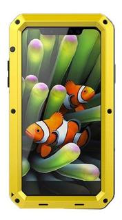 Amarelo iPhone Xr Para Apple Metal Três Prova Telefone Celu