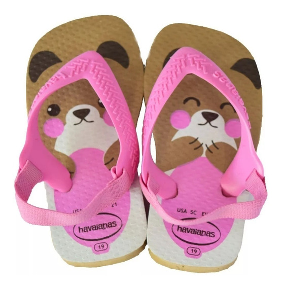 Ojotas Havaianas Baby New Pets Rosa Golds