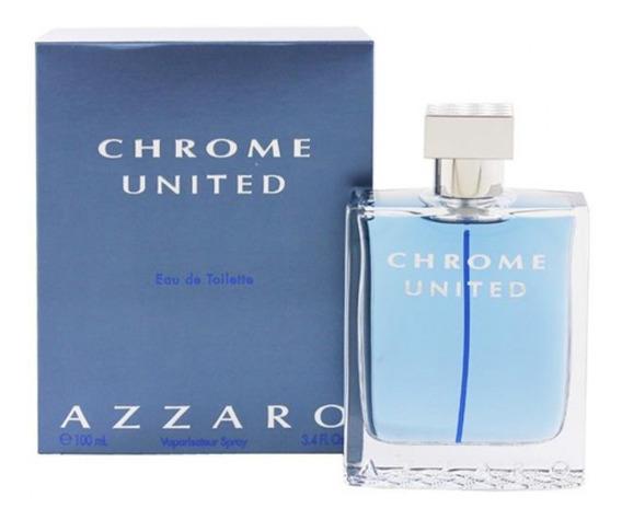 Perfume Azzaro Chrome United Masculino 100 Ml Lacrado