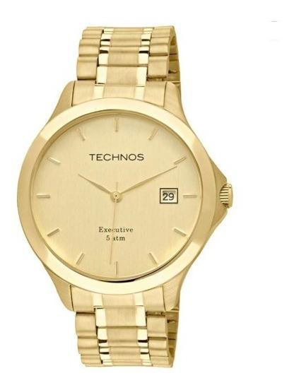 Relógio De Pulso Technos Masculino 1s13bwtdy/4x Dourado