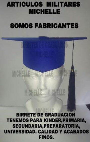 25 Birretes Graduacion Varias Tallas Envio Gratis