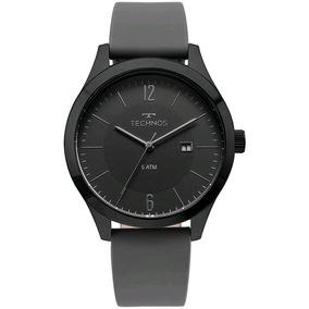 Relógio Technos Executive Masculino Couro Cinza 2115mou/2p