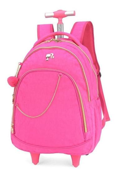 Mochila De Rodinha Feminina Barbie Notebook Mc51230