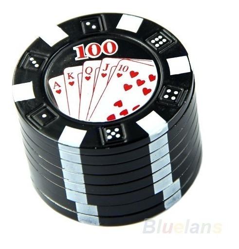 Mini Dichavador Moedor Triturador Ficha Poker Pt