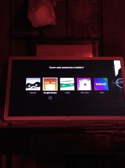 Vendo Tv LG 32 Polegadas Branca Tela Trincada Mas Funciona