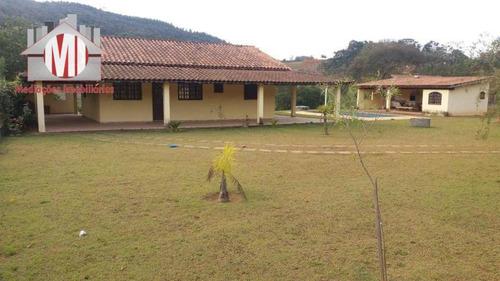 Imagem 1 de 28 de Linda Chácara Com 3 Dormitórios, Edícula, Piscina, Pomar, À Venda, 1800 M² Por R$ 410.000 - Rural - Socorro/sp - Ch0781