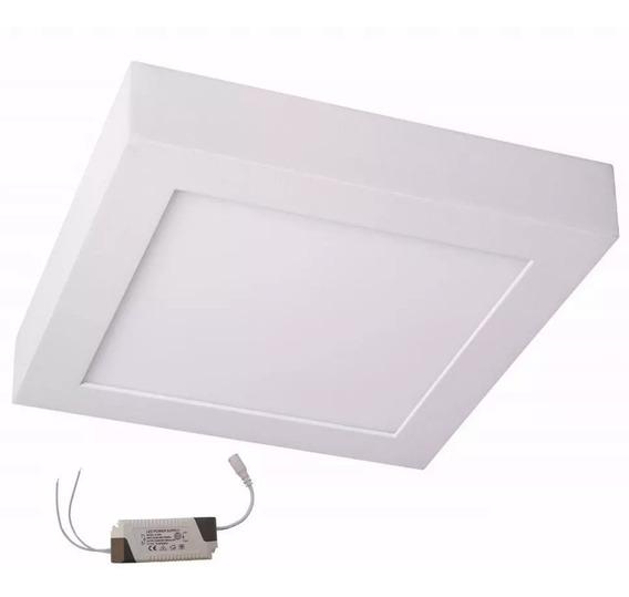 Plafon Sobrepor 20w Painel Led Quadrado Luminaria Bivolt