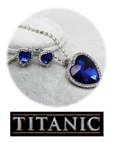 Imagen 1 de 10 de Collar Titanic ! Replica Exacta + Aretes Gratis Amor Corazon