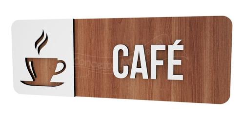 Imagem 1 de 3 de Placa Indicativa Cafe Hotel Empresa Bar Lounge Cafeteria