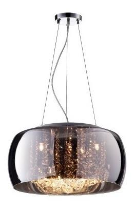 Luminária Pendente Plafon Cristal Cromado Soho Bella 40x20cm