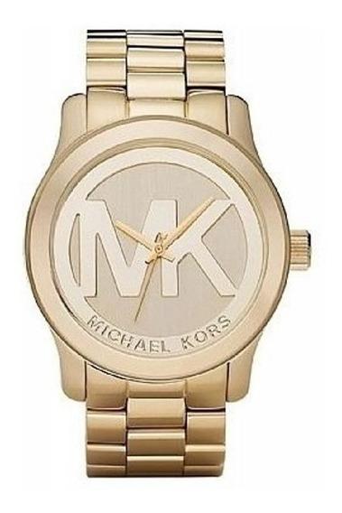 Relógio Michael Kors Mk5473 Logo Original Dourado C/caixa Mk
