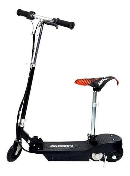 Patinete Elétrico Motorizado Scooter Com Assento Preto 24v