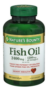 Fish Oil (ômega 3), 2400mg, Nature