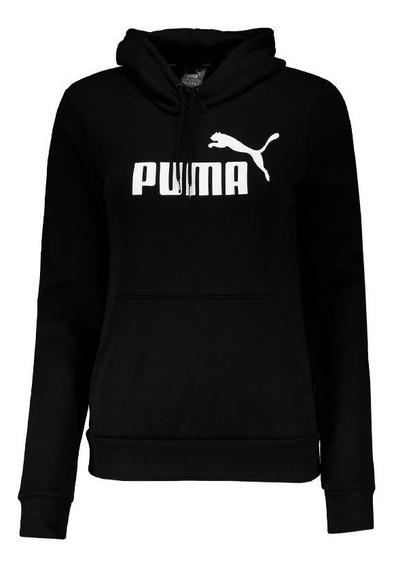 Moletom Puma Essentials Fleece Feminino Preto