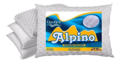 Almohada Alpino Duoflex Espuma Fria Con Gomos Masajeadores