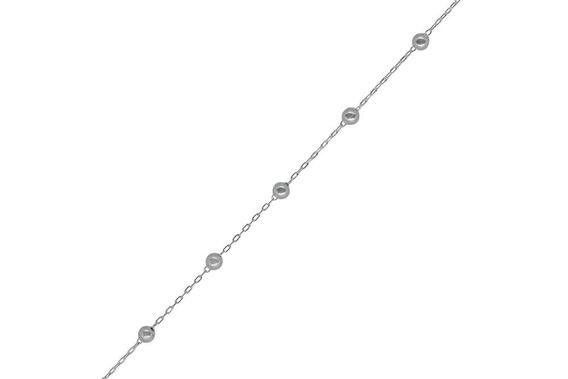 Pulseira Miniballs Feminina Prata 925 Bolinhas Delicada
