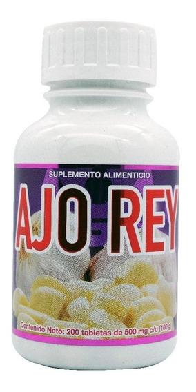 Ajo Rey 200 Tabletas Purifica La Sangre Y Mejora Circulación