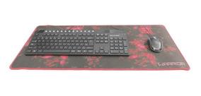 Mouse Pad Para Teclado E Mouse Gamer Vermelho Warrior Ac301