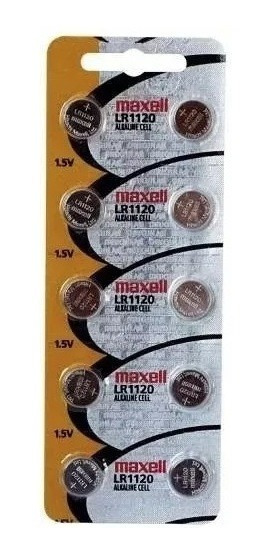 Dez Baterias Pilha Maxell Lr1120 Bateria Relógio Original