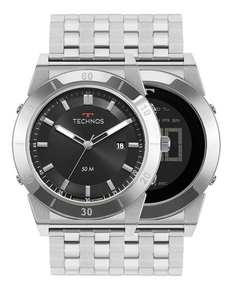 Relógio Technos Masculino Curvas Oscar Niemeyer Nf 1s13cs/1p