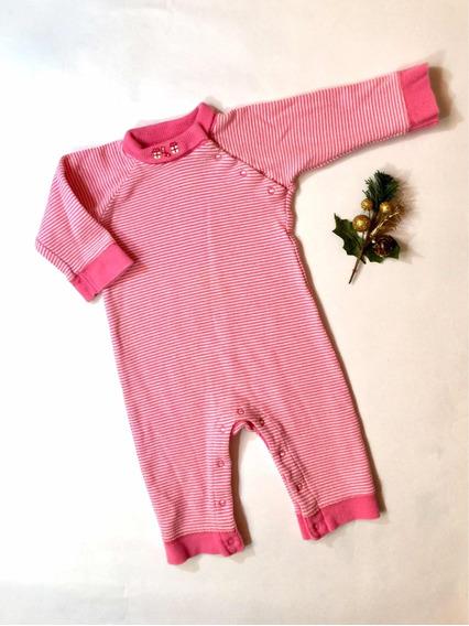 Pijama/mono De Navidad Bebé-niña Gap T 3 Meses Rayas Fucsia