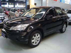 Honda Cr-v Lx 2010 Automática Preta (completo + Couro)
