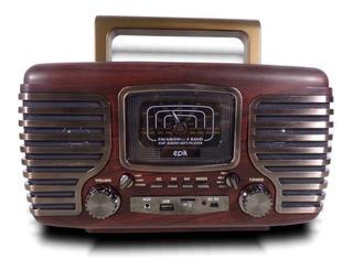 Parlante Vintage Speaker 15w Bluetooth Radio Usb Ft-101 6cts